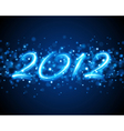 happy new year 2012 message vector image vector image