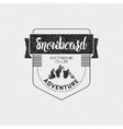 Snowboard badge and label It can be used to design vector image