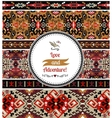 Seamless colorful pattern in aztec style vector image
