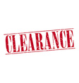 clearance red grunge vintage stamp isolated on vector image