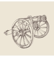 Retro old style cannon vector image