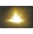 a golden light ray with vector image