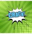 Crack comic bubble text vector image