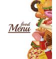 food restaurant menu vector image