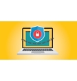 internet security with chain and vector image