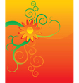 orange flower background vector image