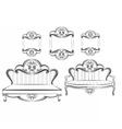 Royal Sofa and Frames set vector image