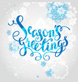 snowflakes season background vector image