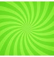 Swirling radial bright green pattern background vector image