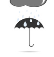 umbrella with rain vector image