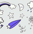 Weather doodle vector image