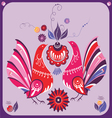 ornamental Gorodets style birds vector image