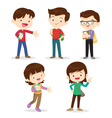 High school students boy and girl vector image