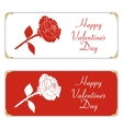 Set of two white and red horizontal banner With vector image