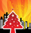 City celebrations christmas vector image