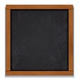 Chalkboard wood frame isolated on white background vector image