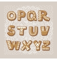 Christmas cookie alphabet font vector image