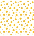 Circle yellow seamless pattern vector image