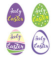 collection of easter eggsr religious symbol of vector image