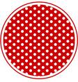 Polka Dot Round Background vector image