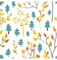 Seamless autumn forest pattern vector image