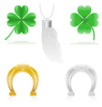 Set icons talisman amulet and charm vector image