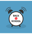 Back to school Alarm clock with chalk text Blue vector image