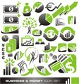 Business and money icon set vector image vector image