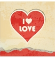 Red heart retro poster vector image vector image