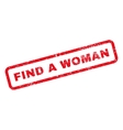 Find a Woman Text Rubber Stamp vector image