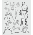 Boxing Sketches vector image
