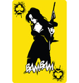 Criminal lady of clubs vector image vector image