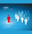 team leader concept vector image