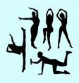 sport girls activity silhouette