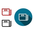 Flat round news icon vector image vector image