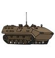 Sand track troop carrier vector image