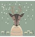 a deer in sweater vector image