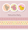 baby shower card with funny animals vector image
