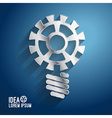 Business ideas concepts featuring light gear vector image