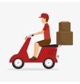 man delivering boxes design isolated vector image