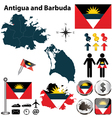 Map of Antigua and Barbuda vector image