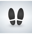 shoe print - black icon with shadow vector image