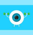 strong healthy white eye eyeball vector image