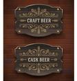 Crafr beer vintage signboard vector image vector image