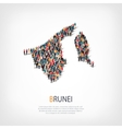 people map country Brunei vector image