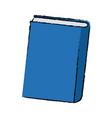 blue book close learn literature knowledge vector image