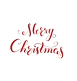 Merry Christmas handwriting lettering vector image