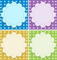 Empty background templates vector image