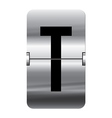 Alphabet silver flipboard letters t vector image