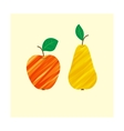Apple pear fruit food fresh isolated healthy vector image